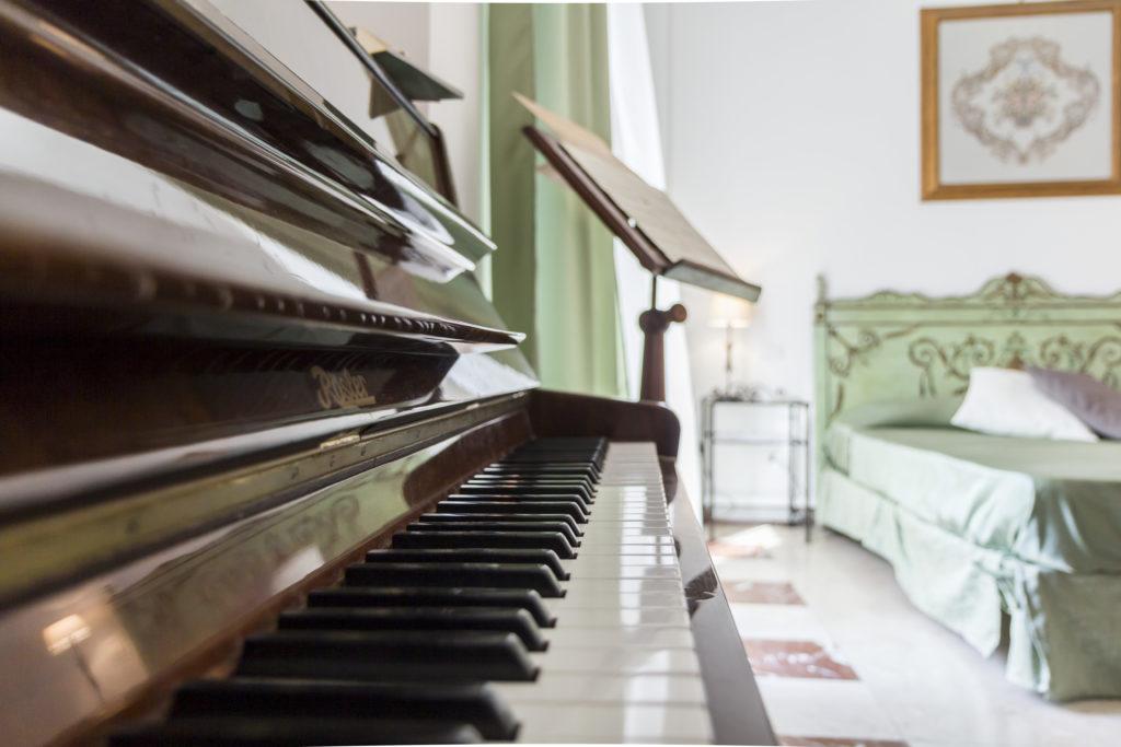 La suite 'Musica' è dotata di pianoforte