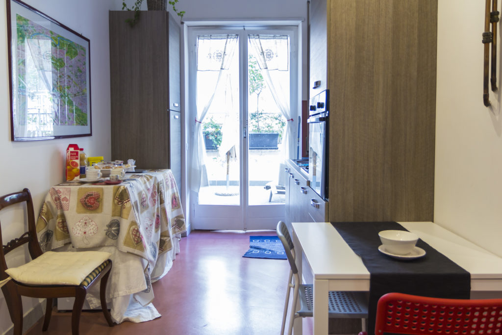 La cucina nell'area comune