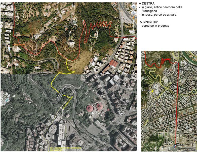 Foto satellitare del Parco con i sentieri che circonda la struttura